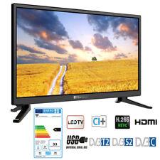 12 Volt Fernseher für Wohnmobil 24 Zoll TV Camping mit Triple Tuner CI+ HDTV USB
