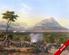 BATTLE OF MONTERREY MEXICAN AMERICAN WAR HISTORY PAINTING REAL CANVAS ART PRINT