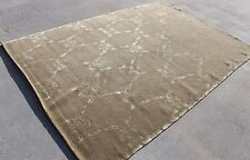 R1338 Exclusive Wool & Silk Tibetan Area Rug 6' X 9' Hand Knotted in Nepal