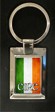 Irish Flag - high polished metal keyring