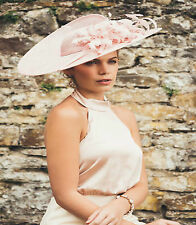 FAILSWORTH PETAL PINK ASCOT WEDDING FASCINATOR HAT OCCASION MOTHER OF THE BRIDE