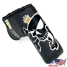 King Skull Black Headcover Putter Cover For Scotty Cameron Taylormade Odyssey