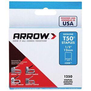 "Arrow Genuine 12mm (1/2"") T50 Steel Staples - ART50A12"