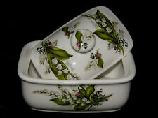 BN Lily of the VALLEY Floral Spray Bone China beurrier, La Chine Beurrier