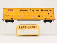 HO Scale Life-Like 8990 GBW Green Bay & Western Thrall Door Car #54 RTR