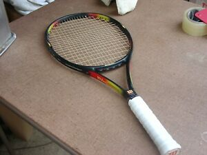 Wilson Pro Staff Classic 6.1 Graphite Tennis Racquet 4 3/8 w Pro Overwrap 110 si
