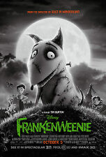 FRANKENWEENIE • 1-Sheet Movie Poster DS • B • TIM BURTON • DISNEY • 2012