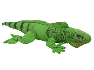 """Vintage APPLAUSE 19"""" Green Iguana Reptile Firm Plush 90's Toy Determined Prod."""