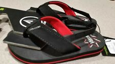 Volcom Big Youth Victor Flip Flop Sandals Us size 4 Black with Red
