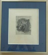 FELICIEN ROPS (1833-1898) / GOD OF THE MOTHER SUPERIOR /  VERNIS MOU / 46x40cm