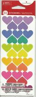 112 COLORFUL HEART SCRAPBOOK CRAFT STICKERS 4 SHEET HEARTS STICKER PRICE FREE SH