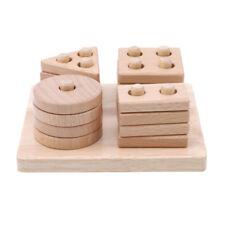 Wooden Educational Preschool Toddler Kids Toys Geometric Board Blocks Puzzles Z