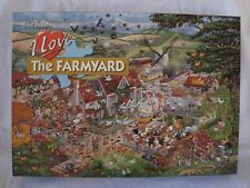 Mike Jupp's I Love Farmyard 1000 Pc Puzzle Humor Gage Gift Cartoonist Comedy