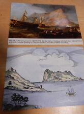 2 Gibralter Postcards Carteyaruins & HMS Victory towed to Gib. after Trafalgar