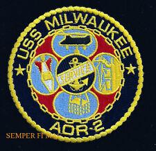 USS MILWAUKEE AOR-2 PATCH US NAVY VETERAN GIFT NS FLEET OILER GIFT PIN UP WOW