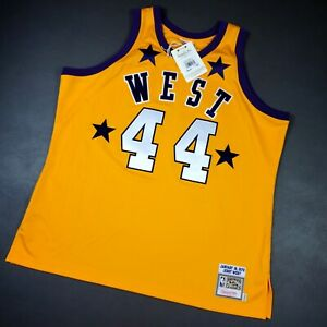 100% Authentic Jerry West Mitchell Ness 1972 All Star Game Jersey Size 56 3XL
