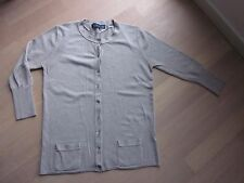 Strickjacke, Rundhals, 3/4-Arm, Feinstrick, beige, Zara, M, kaum getragen