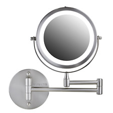 Ovente Wall Mounted Vanity Mirror 7 Inch 10X Magnification Brushed Mfw70Br1X10X
