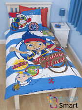 JAKE AND NEVER LAND PIRATES DOUBLOONS SINGLE DUVET COVER AND PILLOWCASE SET KIDS