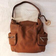 New! Michael Kors Brown bag gold pockets handbag designer large NWT