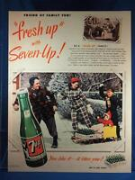 Vintage Magazine Ad Print Design Advertising 7-Up Soda