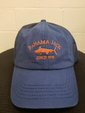 Panama Jack Logo Baseball Cap Hat Sport Fishing Blue Mesh Back