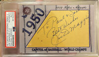 2019 historic autographs capitol of baseball JOE DIMAGGIO