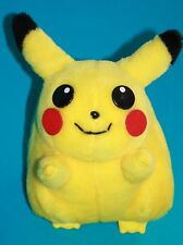 "Pokemon Yellow Plush PIKACHU 9"" Soft Toy Stuffed Animal Felt Cheeks Plastic Eyes"
