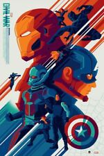CAPTAIN AMERICA CIVIL WAR limited edition variant print #175 TOM WHALEN 24x36