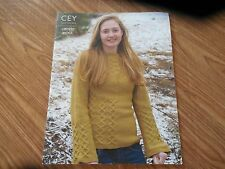 "NEW Knitting Magazine ""CEY/Classic Elite Designs"" Liberty Wool w 6 Patterns"