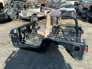 2000 JEEP WRANGLER TJ BARE TUB WITH ROLL BAR / CAGE OEM BODY FLOOR FRAME