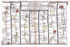 Antique map, The Road from Hereford to Leicester plate 072