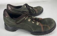 Steve Madden Alpyne Womens Size 9 1/2 Walking Hiking Shoes  Green Nubuck Leather