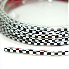 CAR DASH PARTS DECORATION TRIM MOULDING 4MM(W) X 5M(L) BLACK WHITE