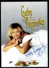 Gaby Baginski Autogrammkarte Original Signiert ## BC 4988