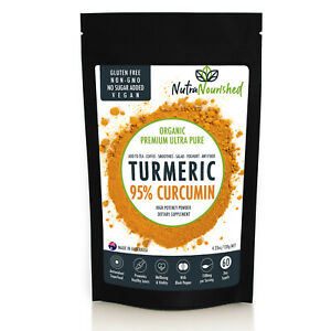 Turmeric 95% Curcumin Extract Powder Highest Potency, Natural Pure Flavour