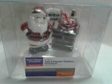 Better Homes and Gardens kitchen utensils santa salt and pepper shakers w/north