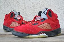2009 Nike Air Jordan Retro 5 V Toro Bravo Fear Red Suede RAGING BULL 5 size 10