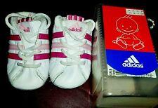 Adidas crib shoes Pink & White, baby size 1k