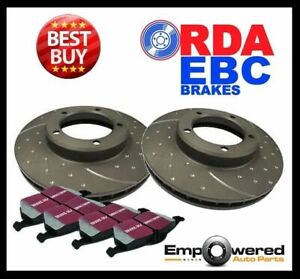 DIMPL SLOTTED FRONT DISC BRAKE ROTORS + PADS for Peugeot 206 S16 GTi 5/2002-2006