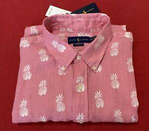 NWT Ralph Lauren BIG MAN'S LINEN SHIRT Summertime Short Sleeves Button-Front XXL