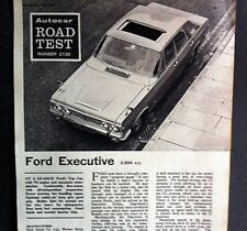 FORD EXECUTIVE -1967 - Road Test removed from AUTOCAR magazine + Advert