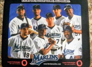 COLLECTIBLE FLORIDA MARLINS 2003 WORLD SERIES STARS BASEBALL MOUSEPAD