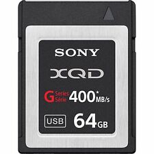 Sony XQD G Series 64GB Read 440MB/S Write 400MB/S Memory Card for Camcorder 4K