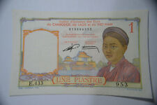 French Indo-China 1 Piastre P92 1953 UNC Banknote.