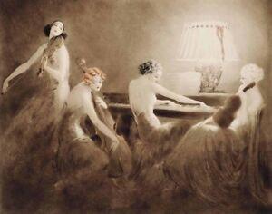 Icart Louis Melody Hour Canvas Print 16 x 20   #3294