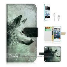 ( For iPod 5 / itouch 5 ) Flip Case Cover! P0793 Wolf