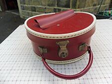 Vintage circular red vanity case by BRITANNIA