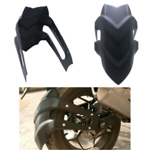 Universal Plastic Motorcycle Rear Wheel Mudguards Fender Stainless Steel Bracket