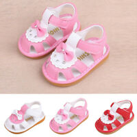 Newborn Toddler Baby Girls Cartoon Shoes Sandals First Walkers Soft Sole Shoes A